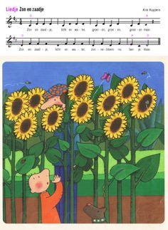 zon en zaadje Parents As Teachers, School Themes, Spring Blossom, Plantar, Green Life, Fauna, Vincent Van Gogh, Preschool, Songs