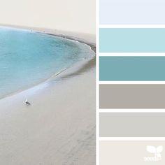 Design Seeds + Color Atlas by Archroma® Bedroom Paint Colors, Interior Paint Colors, Paint Colors For Home, House Colors, Beach Color Schemes, Paint Color Schemes, Bedroom Color Schemes, Design Seeds, Coastal Color Palettes