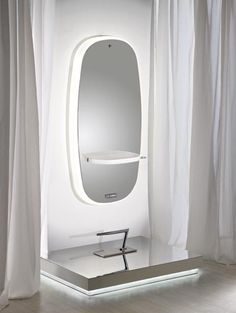 salon ambience-73*36.7. porte sécheux chromé sous tablette