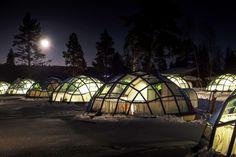 Glass igloos, Kakslauttanen, Saariselkä, Finland.