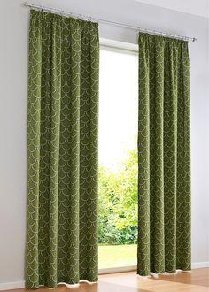 Beställ Gardin «Wave» (1-pack), Veckband grön - bpc living nu från 99.- kr i online-butiken på bonprix.se Den halvtransparenta gardinen «Wave» är ett ...