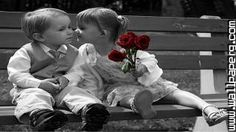 Download Cute baby kissing - Cute baby profile pics for your mobile cell phone
