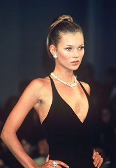 '90s Kate - stunning in a LBD and diamonds. Browse our selection of diamond jewellery at up to 70% off retail here: http://www.firststateauctions.com.au/online.php?action=srch&searchcat=ALL&searchsub_cat=133&searchauc=ALL&itemsearch=