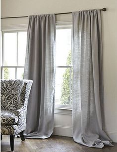 """Custom finished in USA. Dry clean only. Various colors and length; all sizes 50"""" W. Coordinates with our hardware. Add subtle texture to any room with our"""