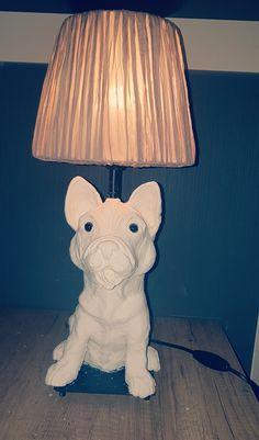 Französische Bulldogge Lampe ( noch nicht angemalt!)