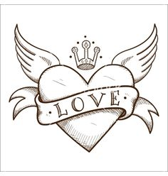 Drawing of hearts with wings how to draw a heart with wings drawing Art Drawings Sketches Simple, Pencil Art Drawings, Love Drawings, Easy Drawings, Cute Heart Drawings, Love Heart Drawing, Sketch Drawing, Heart Coloring Pages, Banner Drawing