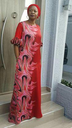 For blue/yellow silk African Maxi Dresses, Ankara Dress, African Dresses For Women, African Attire, African Wear, African Women, African Print Fashion, Africa Fashion, Ethnic Fashion