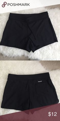 Never Worn Reebok running shorts Black running shorts from Reebok. Never worn. Backside has a pocket. Amazing material. Reebok Shorts