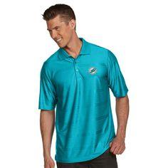 Miami Dolphins Antigua Illusion Xtra-Lite Polo - Aqua Employee Recognition, Tampa Bay Rays, Lifestyle Clothing, Miami Dolphins, New T, Warm Weather, Sportswear, Light Blue, Illusion