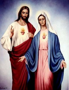 Sacred Heart of Jesus. Immaculate Heart of Mary