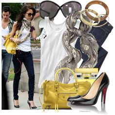 DIY Nicole Richie Style black louboutin pumps white shirt jeans