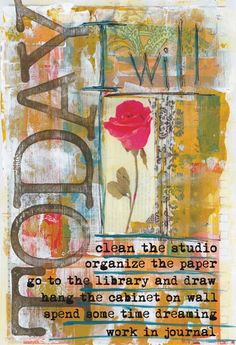 TODAY  Originally pinned by Virginia Stevenson onto journals pages and sketchbooks.