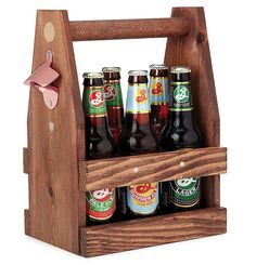 Wooden Beer Tote | 105 Awesome but Affordable Gifts For Men | POPSUGAR Smart Living