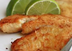 RECIPE: Spicy Lime Tilapia - 1 1/2 lb tilapia fillets, 1 sliced lime, 1 sliced lemon, 2 Tbs butter, 2 Tbs olive oil, 1 Tbs chili flakes, 1/4 tsp smoked paprika, 1/2 tsp garlic powder, 1 Tbs dry dill & parsley, salt & pepper to taste. Saute in citrus, butter & olive oil. Cook time 15 minutes over medium heat. Serves 4. (Amazing over wild saffron rice.)