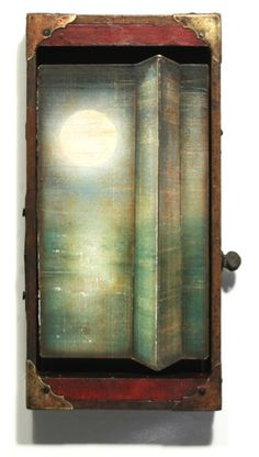 Jason Brammer. Lunar Compression. 2011. Acrylic, Antique Hardware, Metal, Salvaged Wood, and Paper
