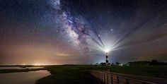 Guiding Lights...part 2 - Milky Way at Bodie Lighthouse, Outer Banks, North Carolina | Flickr - Photo Sharing!