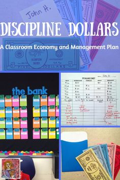 "Discipline Dollars is a behavior management system based on a classroom economy. Students ""pay"" the teacher money for repeated behavior corrections and can earn money for positive classroom choices. Students save money for class rewards. Can be adapted fo Class Reward System, Classroom Reward System, Classroom Discipline, Classroom Rewards, 4th Grade Classroom, Classroom Ideas, Reward System For Kids, Future Classroom, Behavior Management System"