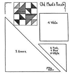 Quilt pattern: Old Maid's Puzzle
