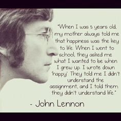 one of lennons best quotes