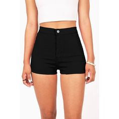 Voltage High Waist Shorts ($35) ❤ liked on Polyvore featuring shorts, short jean shorts, denim shorts, jean shorts, pocket shorts and highwaist shorts