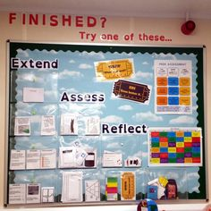 plenary display board - extend, assess and reflect Maths Classroom Displays, Year 6 Classroom, Primary School Displays, Classroom Display Boards, Display Boards For School, Ks2 Classroom, Teaching Displays, French Classroom, Primary Classroom