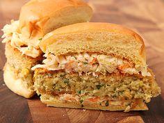 Vegan #recipe: Crispy Fried Chickpea Cake and Slaw Sandwiches