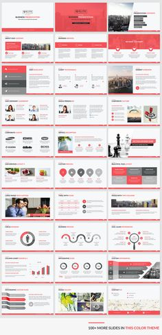 Corporate Presentation template red color preview Available in 5 unique color themes and all 5 templates contain fully editable PowerPoint slides and come at a very affordable price. Download https://slidehelper.com/elite-corporate-powerpoint-template/