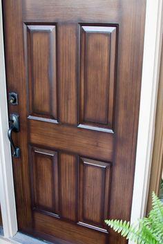 How To Paint Your Metal Front Door To Look Like Wood
