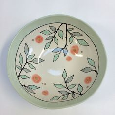Serving Bowl  Branches & Blossoms Home Decor by krystalspeck