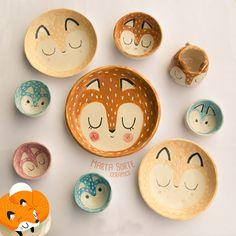#Platos de #cerámica pintados a #mano que encantarán a #niños y #adultos. #menajedecocina
