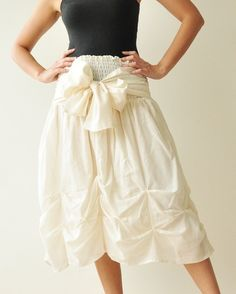 Baby Doll White Cotton Dress/Skirt by aftershowershop on Etsy, $42.50