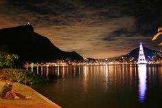 Lagoa Rodrigo de Freitas em Rio de Janeiro, Brazil