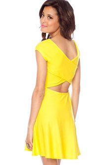 yellow dress- love the back and how wide the straps are!
