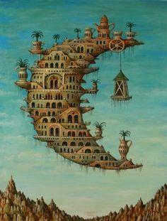 Artifact Puzzles - Tyukanov Moon Wooden Jigsaw Puzzle