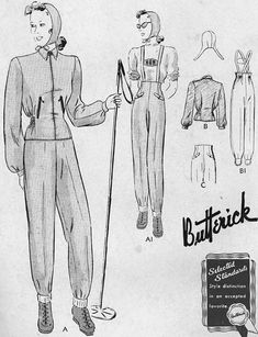 Posts about Daniel Hechter written by Sarah Sheehan Vintage Ski, Vintage Style, 1930s Style, Vintage Country, Vintage Winter Fashion, First Winter Olympics, 1940s Outfits, Vintage Sportswear, Snow Outfit