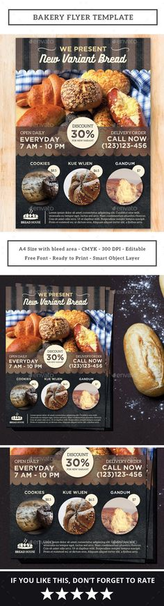 Bakery Flyer Template PSD. Download here: https://graphicriver.net/item/bakery-flyer/17219351?ref=ksioks
