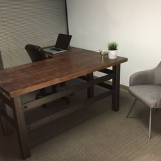 The Brooklyn Executive L shape desk - Modern Industrial Office Design Best Office, Open Office, Tiny Office, Office Interior Design, Office Interiors, Industrial Office Desk, Industrial Table, Industrial Apartment, Industrial Bathroom