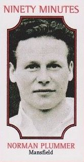 Norman Plumber of Mansfield Town in 1954.