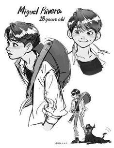 Loco — i just wanted to see 18 years old miguel and i. Disney Pixar, Disney Fan Art, Disney Animation, Disney Cartoons, Disney And Dreamworks, Walt Disney, Disney Dream, Disney Love, Arte Sketchbook