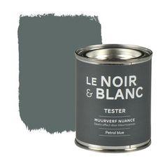 Le Noir & Blanc muurverf nuance petrol blue 100 ml, alles voor je klus om je huis & tuin te verfraaien vind je bij KARWEI