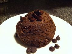 Chocolate Protein Cake. 70 seconds in the microwave. #livewellnow #FitFluential
