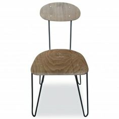 Hairpin Dining Chair - Gunmetal - from Cult Furniture UK