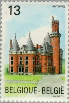 Sello: Antoing Castle (Bélgica) (Tourism) Mi:BE 2382,Sn:BE 1320,Yt:BE 2330,Bel:BE 2330