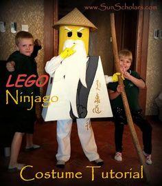 DIY Halloween Costumes: HOW TO : DIY Lego Ninjago Costume Tutorial : DIY Halloween DIY Lego Ninjago Costume
