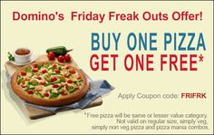[Today Only] Buy 1 Get 1 Free at Dominos Pizza