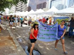 Our favorite farmers market -- the SFC Farmers Market at Republic Square in downtown Austin.