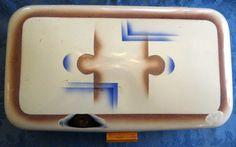 English Art Deco Bread Bin Enamelware Tala by AntiquesAndTeacups, $58.00