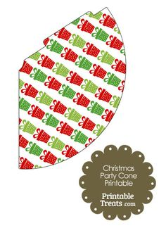 Christmas Presents Party Cone from PrintableTreats.com
