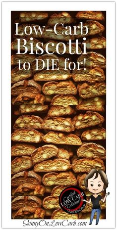 Add  biscotti to your  #low-carb cookbook! They are great #bulletproof coffee dunkers!