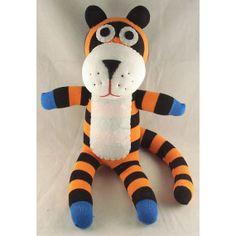 Free Shipping Handmade Sock Tiger Stuffed by supersockmonkeys